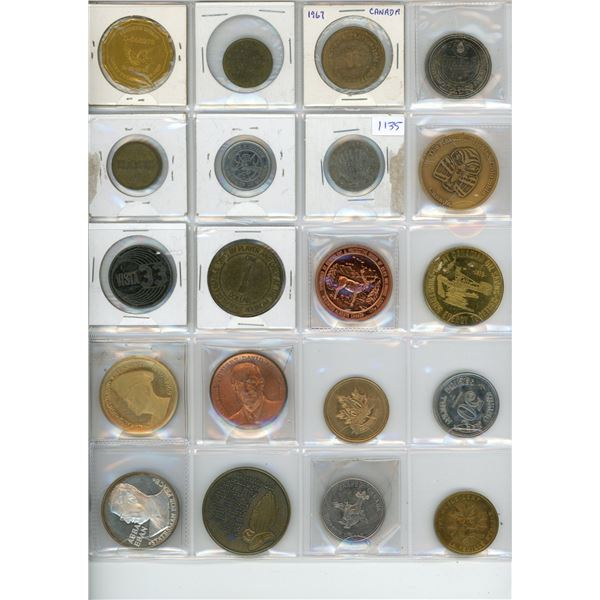 Lot of 20 Souvenir Tokens - Oilers, Ruckers, Eisenhower, Chucky Cheese and more