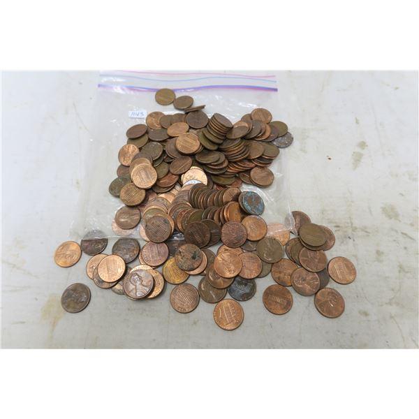 Lot of USA Pennies