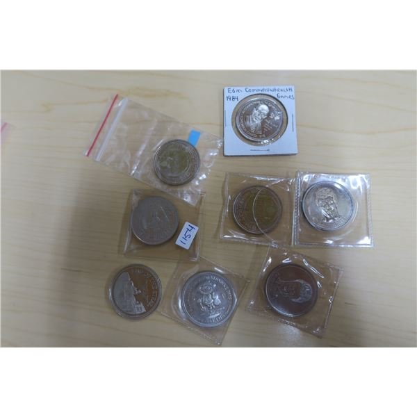 Various Coins/Tokens X8