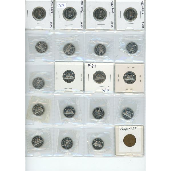 20X Canadian 5 Cent Coins