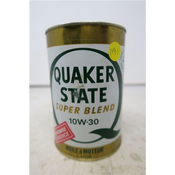 Quaker State Superblend 10W-30 Can (Empty)