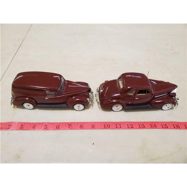 2 model cars 1940 ford 1/24 & 1939 chev 1/24