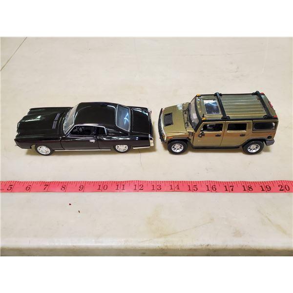 2 model cars hummer 1/27 & monte carlo 1/24