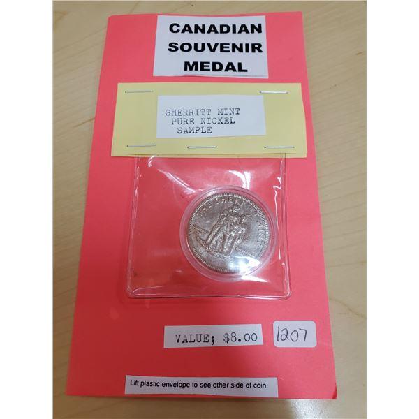 Sherrit Mint Souvenir Medal