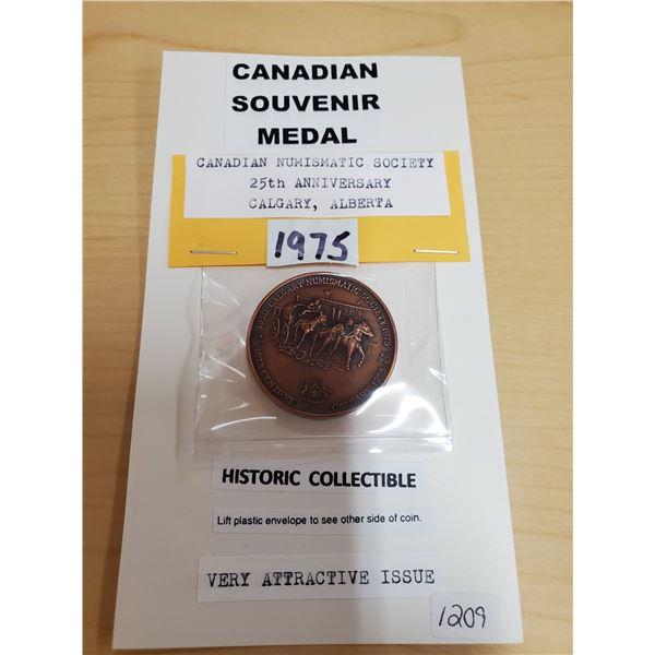 1950-1975 Calgary Numismatic Society Souvenir Medal