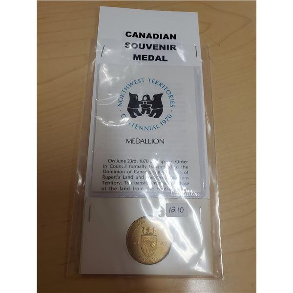 1870-1970 Northwest Territories Souvenir Medal