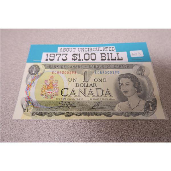 1973 Canadian One Dollar Bill