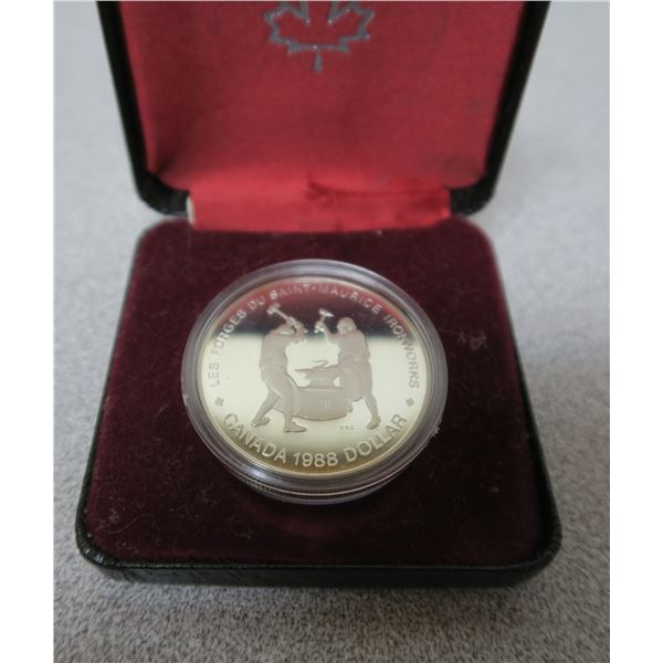 1988 Canadian Commemorative Dollar Coin - St. Maurice Ironworks