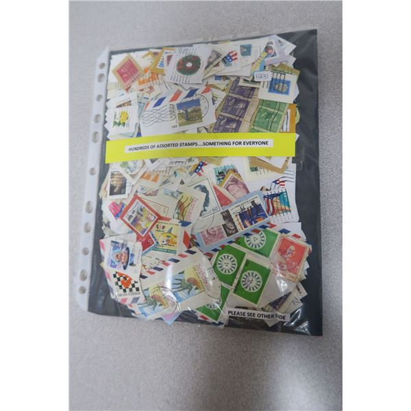 Hundreds of Assorted Stamps