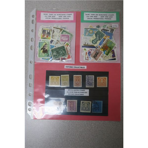 Historic Austrian Stamps X9 and 200+ Worldwide Stamps