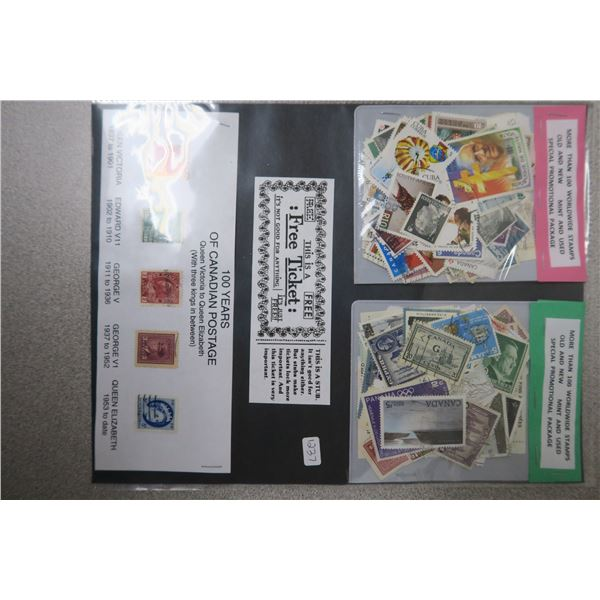 Historic Canadian Stamps and 200+ Worldwide Stamps