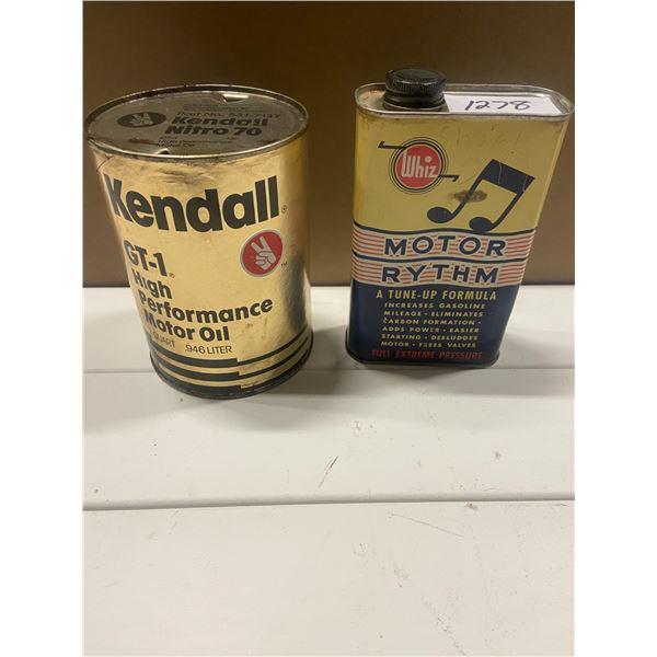 2 oil tins - Whiz - Motor rhythm & Kendall GT-1