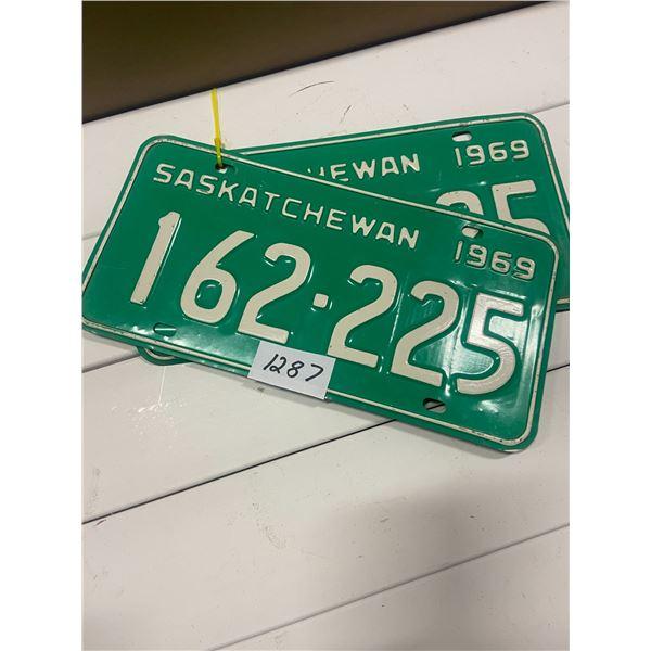 Pair of 1969 license plates