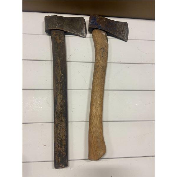 2 hatchets - 1 marked HB Made in Sweden
