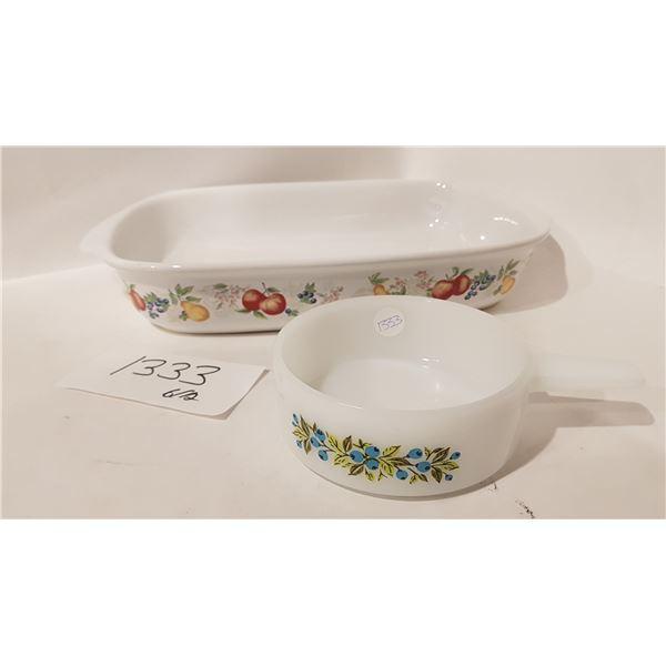 Corelle Stoneware Casserole Dish and Glass Cookware - 2 Piece