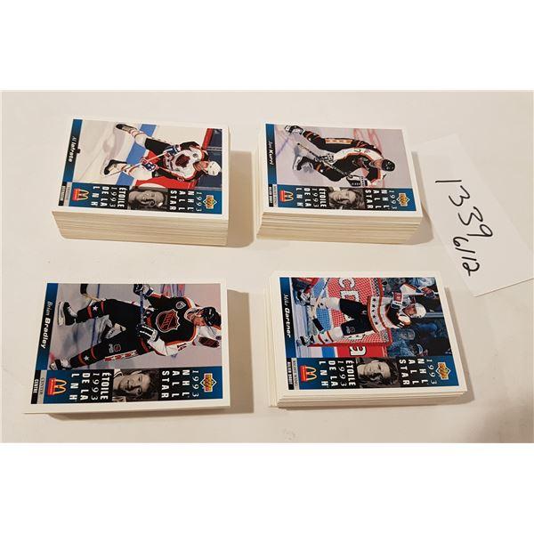 Upper Deck/McDonalds 1993 NHL Hockey Cards - 230+ Cards (No complete Set)