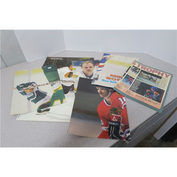 Classic NHL Fold Out Hockey Player Posters - 5X 4 page and 1X 2 page