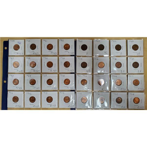 32 canadian pennies