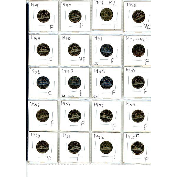 74 canadian nickels 1946-2017