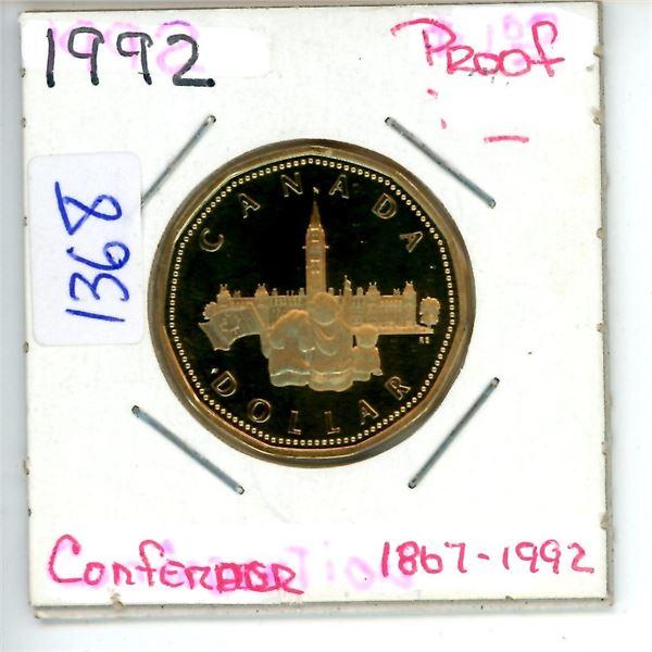 1867-1992 confederation toonie