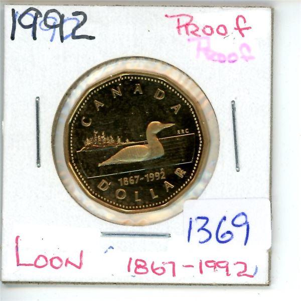 1867-1992 loonie