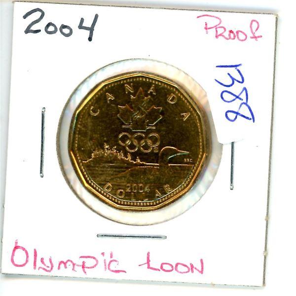 2004 olympic loonie