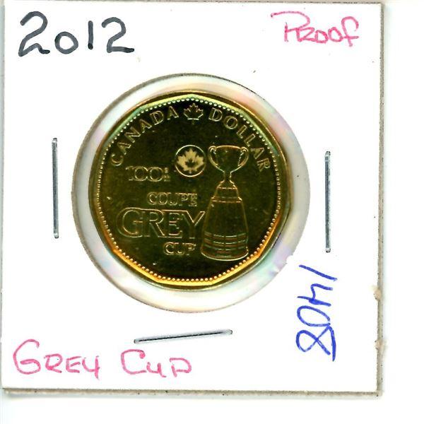 2012 grey cup loonie