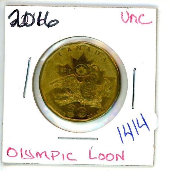 2016 olympic loonie