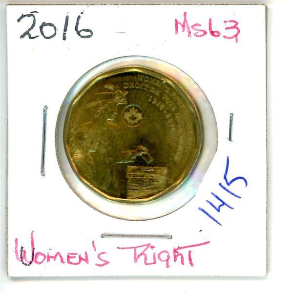 2016 women's right loonie