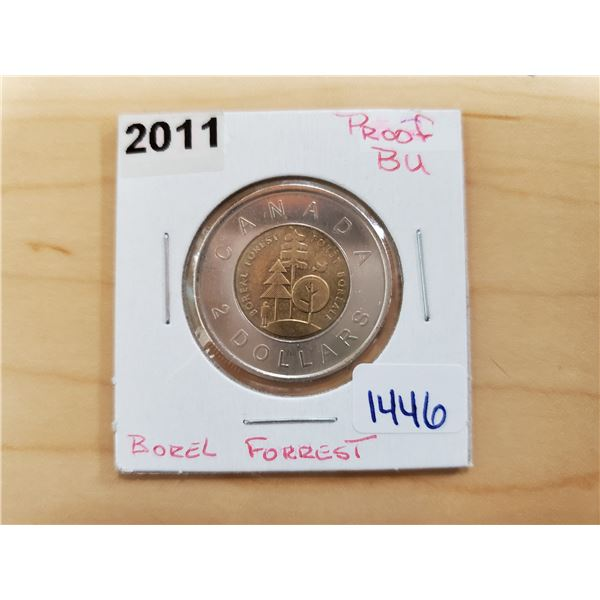 2011 boreal forest toonie