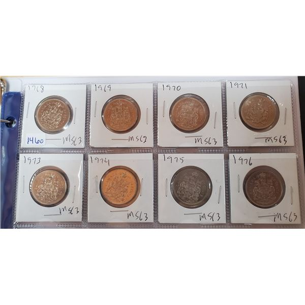 8 canadian 50 cent 1968-1976