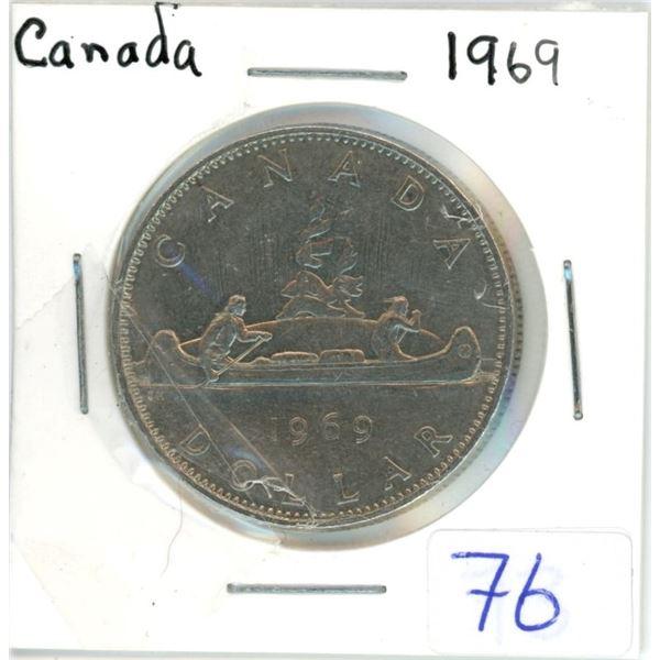 Canada 1969 nickel dollar