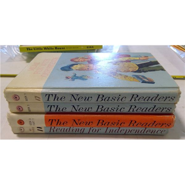 """Lot of 4 """"The New Basic Readers"""""""