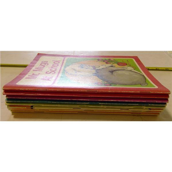 """Lot of 8 Vintage """"Mr. Mugs"""" Books"""