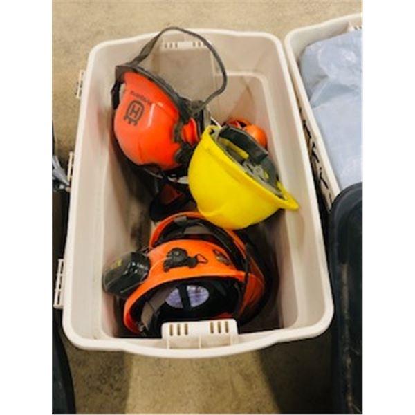 box of helmets
