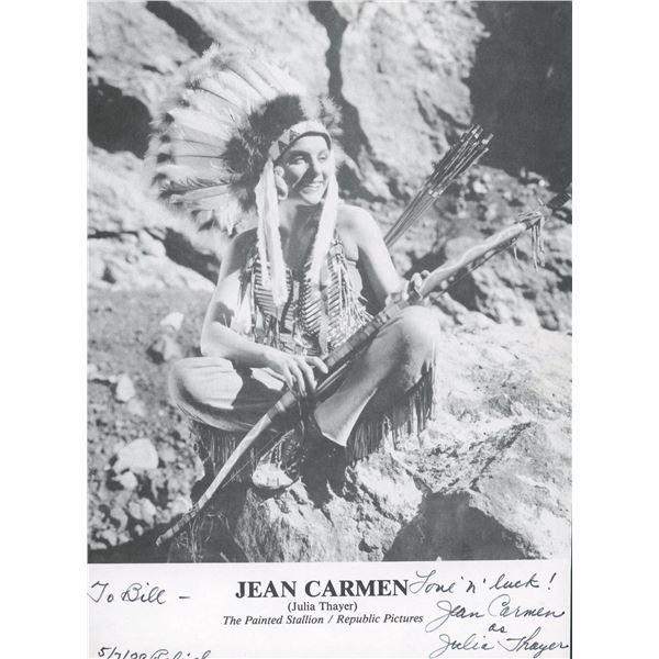 The Painted Stallion Jean Carmen (Julia Thayer) signed movie photo