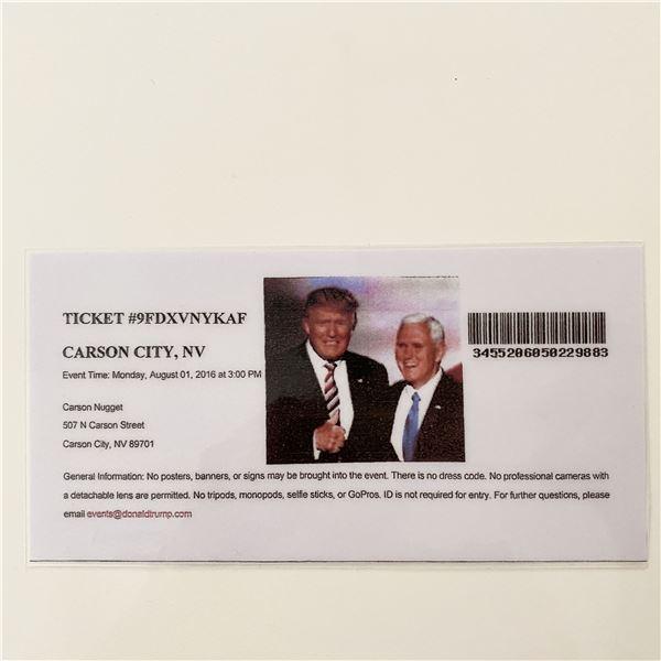 Donald Trump 2016 MAGA Rally Event Ticket- Nevada