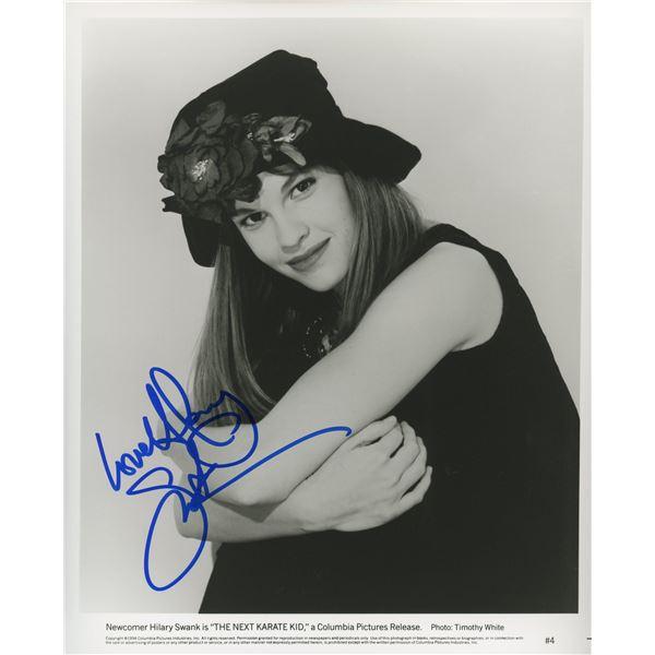 Hilary Swank signed photo