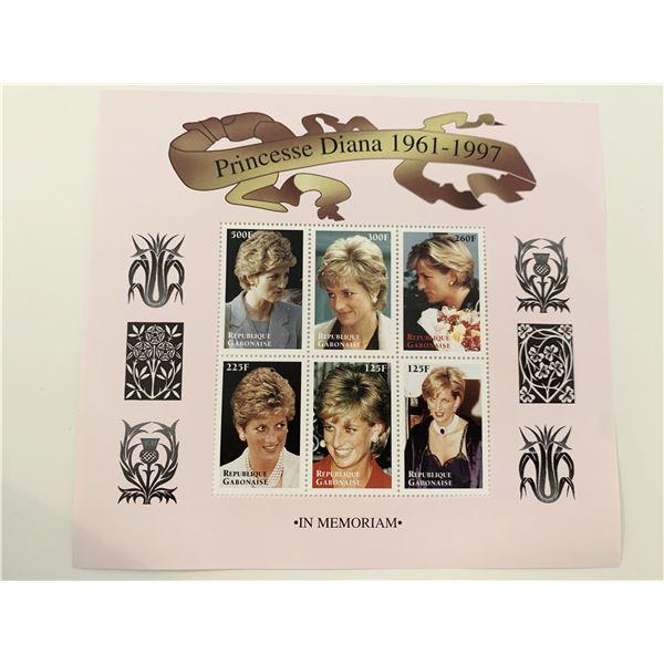 Princess Diana commemorative stamp set