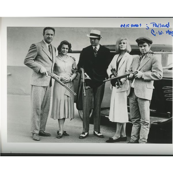 """Michael J. Pollard signed """"Bonnie and Clyde"""" movie photo"""
