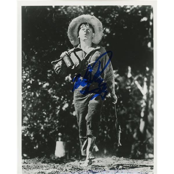 """Mickey Rooney signed """"The Adventures of Huckleberry Finn"""" 8x10 movie photo"""