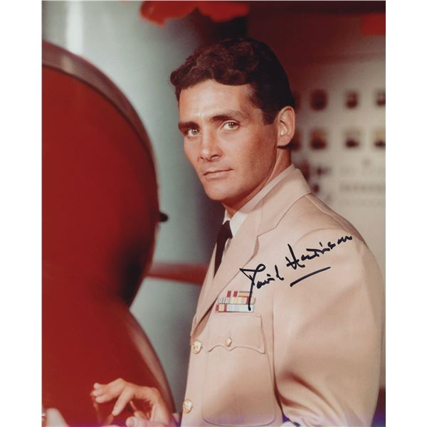 """David Hedison """"Voyage to the Bottom of the Sea"""" signed photo"""