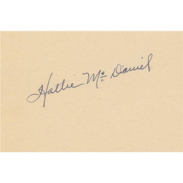 Hattie McDaniel signature cut