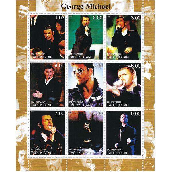 George Michael - Tadjikistan - Cinderella Stamp Set
