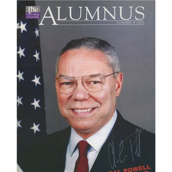 Colin Powell signed magazine
