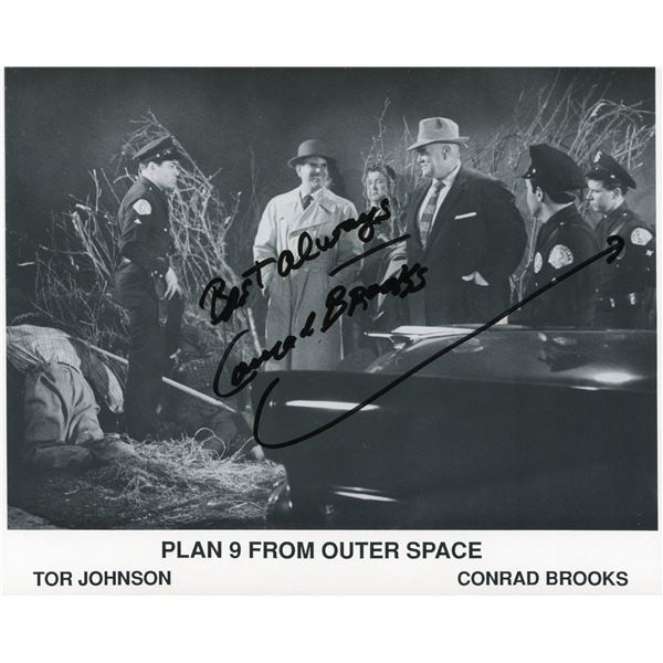 Conrad Brooks signed Plan 9 From Outer Space photo