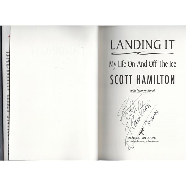 Landing It: My Life On and Off the Ice Scott Hamilton signed book