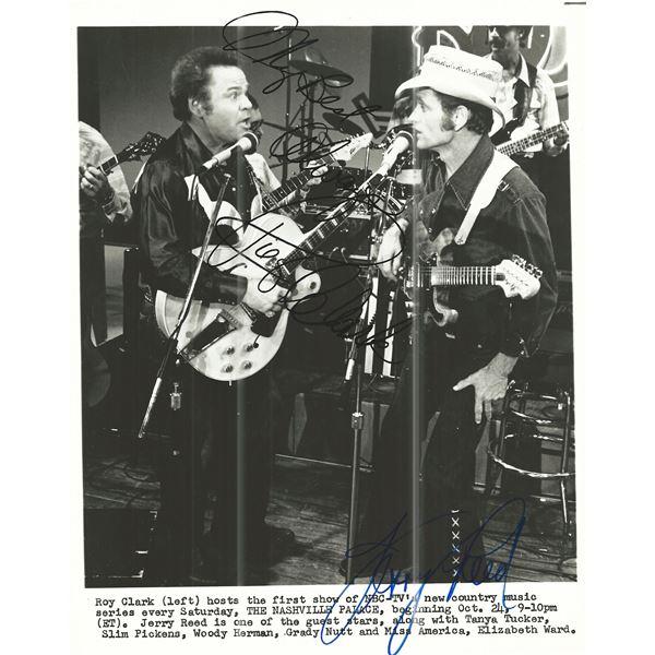The Nashville Palace Roy Clark and Jerry Reed signed photo