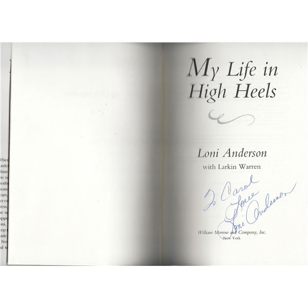My Life in Heels Loni Anderson signed book
