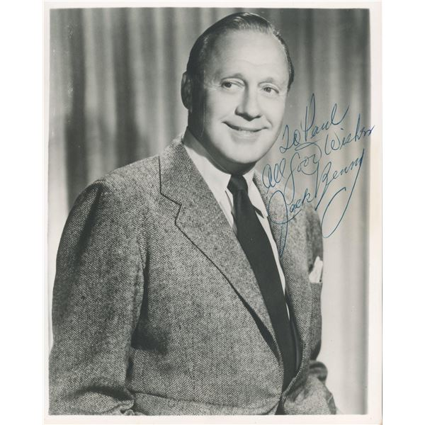 Jack Benny signed photo